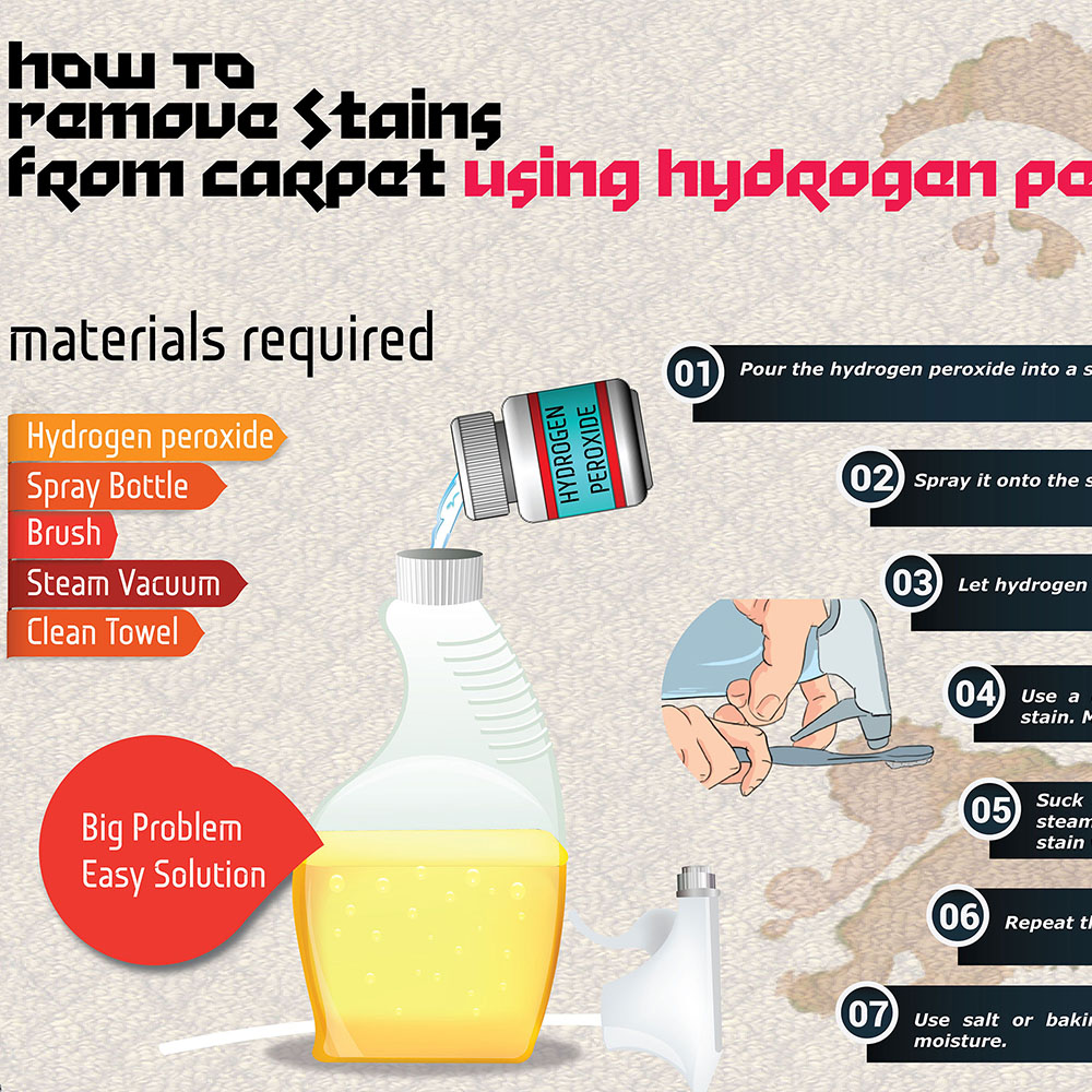How to remove stains from carpet using hydrogen peroxide