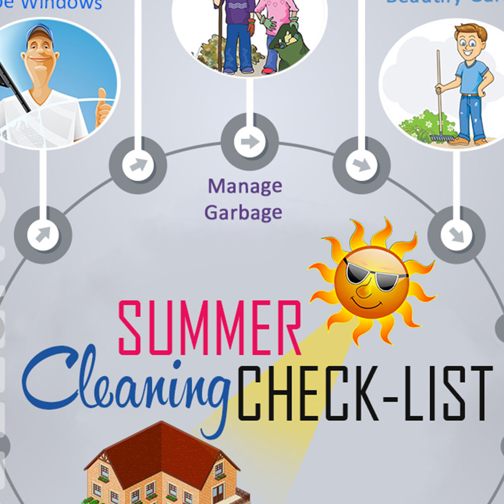 Summer cleaning check list