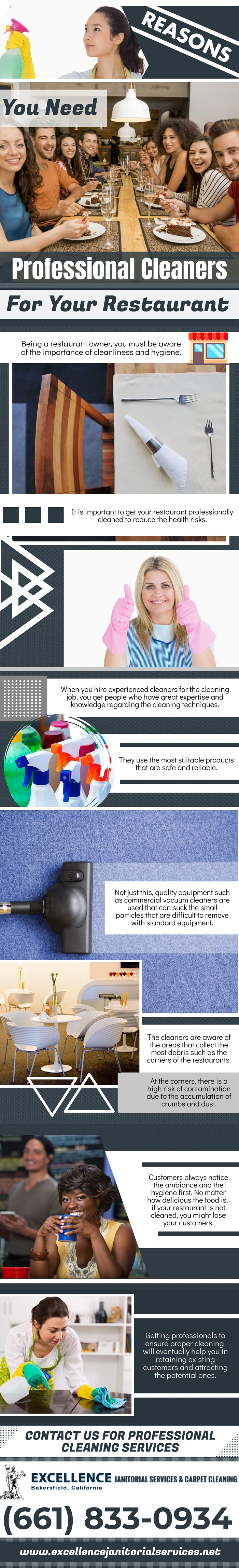 Reasons You Need Professional Cleaners - Infographic